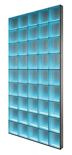LMW Light My Wall beleuchtete Glassteinwand Gesamtgröße: ca. B 97,5 x H 175,5 cm aus...
