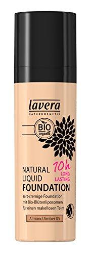 lavera Maquillaje fluido natural -Almond Amber 05- vegano - cosméticos naturales 100% certificados - 30 ml