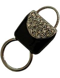 In Handbag Heaven Porte-spectacle magnétique, clip de lunettes, chaîne de lunettes, porte-cartes d'identité, broche de lunettes de soleil magnétique ou broche de lunettes de lecture (Argent)