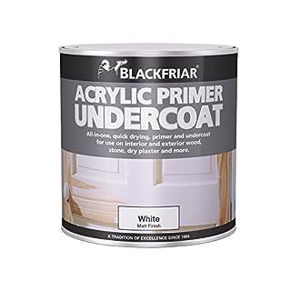 Blackfriar BKFWAP250 Quick Drying Acrylic Primer Undercoat, 250 ml, White