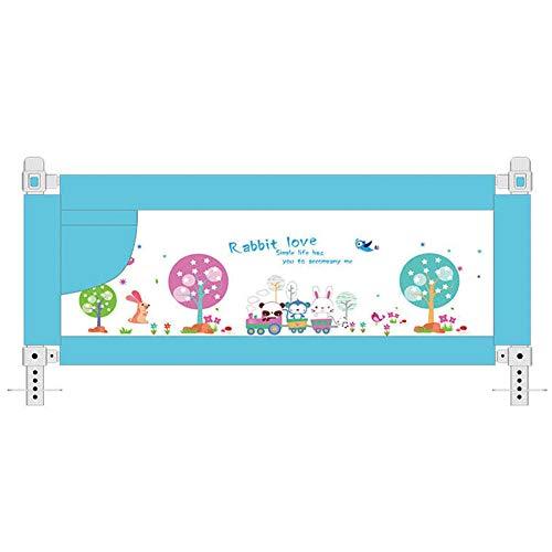 AIBAB Bettschutzgeländer Bettzaunbettstoßfänger Großes Bett Universal Mit Atmungsaktivem Mesh 95 cm Höhe Doppel-Taste Doppelte Versicherung 8-Gang-Einstellung 1.5m