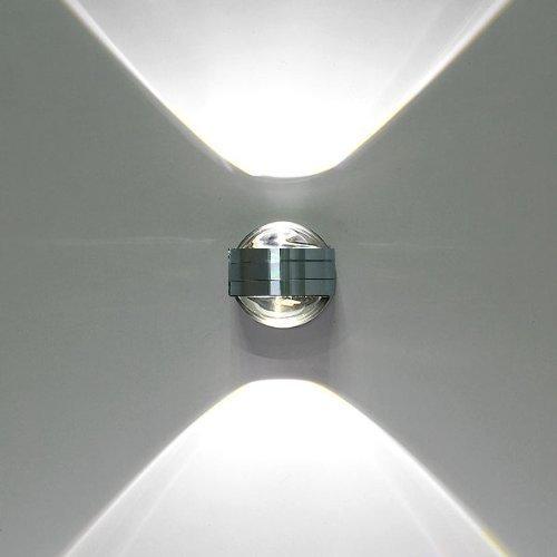 Lightess Moderne 6W LED Wandleuchte Innen Aluminium kreative moderne minimalistische Kulisse LED Wandlampe Nachtwandlampe Schlafzimmerlampe Wohnzimmer Flur Flurlampe,kaltes Weiß (Innen-led-beleuchtung-befestigungen)