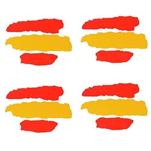 SERWOO 4pcs Pegatina España Bandera Vinilo Adhesivo