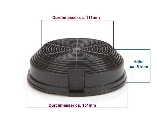 DREHFLEX® - Kohlefilter / Aktivkohlefilter - passend für Bauknecht-Whirlpool - Elica - AMC023 - passend für 481248048212 ersetzt 480122102341 - 4