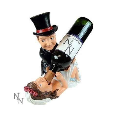 Guzzlers ~ Wine/Beer Novelty Bottle Holder ~ BRIDE & GROOM (Wedding)