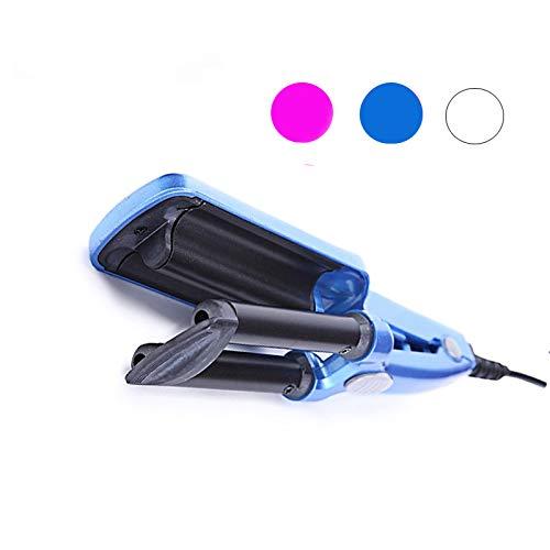 ZUEN Lockenwickler Mini 3 Barrel Professionelle Lockenwickler Lockenstäbe Elektrische Lockenwickler Werkzeuge Haar Eisen Für Wellung Fer EIN Boucler,Blau -