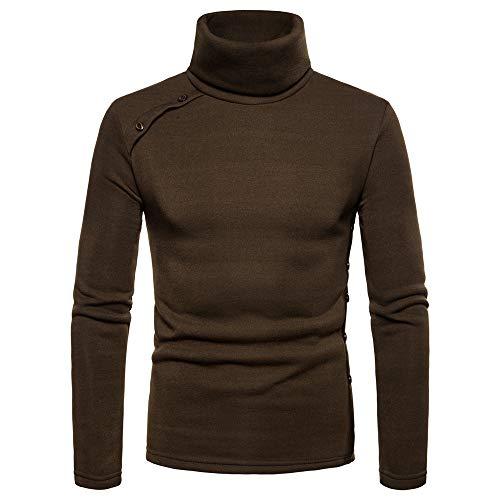 Herren Pullover,TWBB Mode Hoher Kragen Outwear Oberteile Lange Ärmel Mantel Sweatjacke Hemd