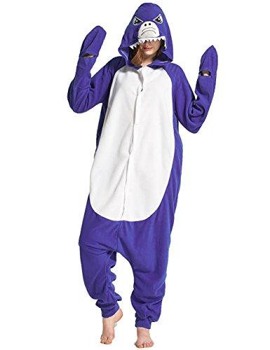 Mena Uk Cosplay Pyjamas Unisex Kostüm Jumpsuit Tier Schlafanzug Erwachsene Fasching Cosplay Karneval S M L XL ( Farbe : Shark , größe : M (Kostüme Halloween Shark)