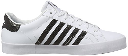 K-Swiss Belmont So Snake, Baskets Basses femme Blanc - Weiß (White/Black)