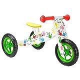 boppi Triciclo de Madera 2 en 1 - Bicicleta sin Pedales - Manos Estampadas