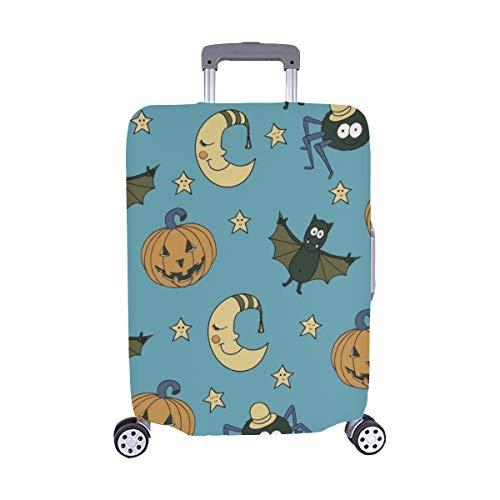 antastische ungewöhnliche Nahtlose Halloween Muster Kürbisse Muster Staubschutz Trolley Protector case Reisegepäck Beschützer Koffer Cover 28,5 X 20,5 Zoll ()