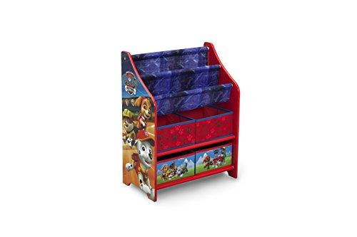 50.49x26.49x67.99 cm Madera Rojo Delta Children Patrulla Canina Organizador de Libros y Juguetes