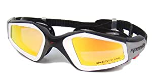 Speedo Adult Rift Pro Mirror Swimming Goggles (Black/Orange)