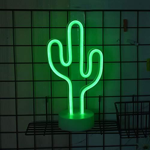 LED Kaktus mit Sockel Nachtlicht,Dekor Neonleuchte Tischlampen für Weihnachten, Geburtstagsfeier, Kinderzimmer, Wohnzimmer, Hochzeit Party Decor (kaktus)