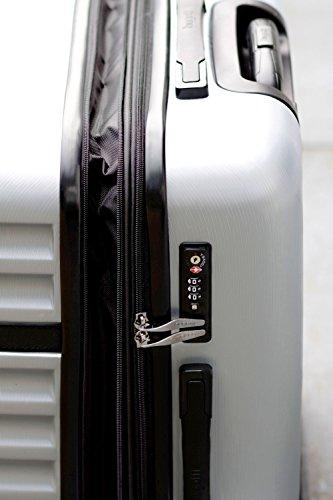 Bugatti Corium Hartschalen-Trolley - 66 cm, Grau/Silber - 3