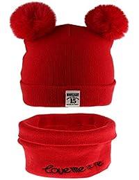 Fenteer Kit Per Unisex Maglia Cappello + Sciarpa Caldo Berretto Invernale  Per Bambini 6-12mesi ba4dbad6badc
