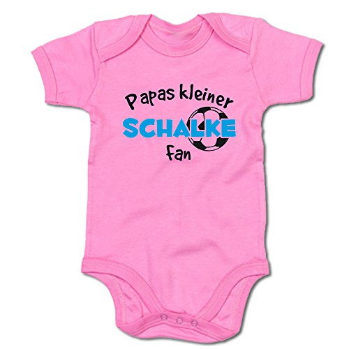 Papas Kleiner Schalke Fan Baby-Body (250.0233) (6-12 Monate, pink)
