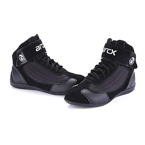 Scarpe da Moto Uomo Donna Protezione Antiskid Stivali da Corsa Sportivo Quattro Stagioni Caldo E Traspirante Scarpe da Ciclismo,Black-38