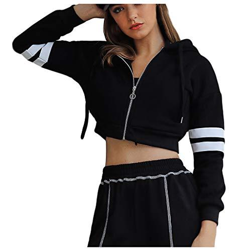 Womens Jacke Retro Reißverschluss Bomber kurze Jacke Mantel lässig Outwear Sweatshirt Tops Outercoat Jacke -