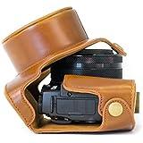 MegaGear Bolsa de Funda Protectora Para Canon PowerShot G1X Mark II marrón claro