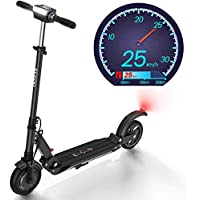 Freego Electric Scooter Adults, Powerful 350w Motor,28km Long-Range Battery,8 inch Solid Tire, Easy Folding & Carry Design, Convenient Fast Commuting, LCD Display,Ultra Lightweight E Scooter