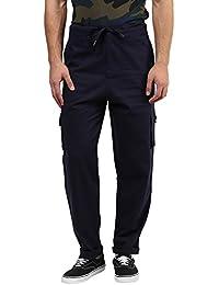 Hypernation Blue Color Cotton Cargo Pant