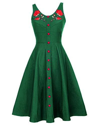 Belle Poque Rockabilly Kleid Casual Petticoat Kleid Hochzeitskleid Knielang L BP377-3