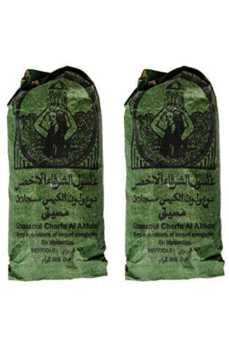 Ghassoul Rhassoul gránulos 1000g | Arcilla roja marroquí para usar como mascarilla para...