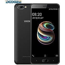 Smartphone Libre, DOOGEE X20L Móviles y Smartphones Libres, 5.0 Pantalla HD IPS - 4G Android 7.0 Teléfonos, 4xCortex-A53, 1.25GHz, 2GB RAM+16GB ROM, 5.0MP Cámara- Dual SIM, Batería de 2580mAh (Negro)