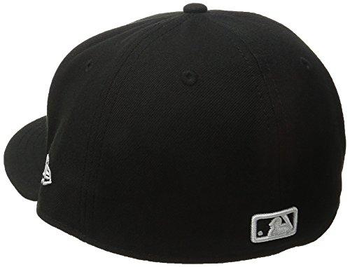 New Era Erwachsene Baseball Cap Mütze MLB Basic LA Dodgers 59 Fifty Fitted, Gr. 7 1/4, schwarz-weiß - 2