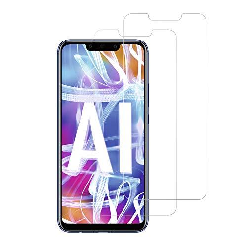 Snnisttek [2 Unidades] Protector de Pantalla Huawei Mate 20 Lite, 9H Dureza Cristal Vidrio Templado para Huawei Mate 20 Lite, 0.33mm Ultra Transparencia HD, 3D Touch Compatibles, Instalación Fácil