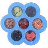 Steerfr Silikon Eierbissen Formen - beste Bundle - passt Instant Topf Schnellkochtopf 5,6 Qt & 8 Quart für Instapot, Babynahrung | Vorratsbehälter | Gefrierfach