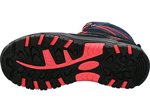 CMP Campagnolo Rigel Mid Wp, Chaussures de Randonnée Hautes Mixte Adulte Gris (Antracite-red Fluo)