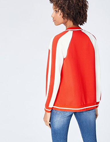FIND Damen College-Jacke Rot (Sports Red/Ivory)