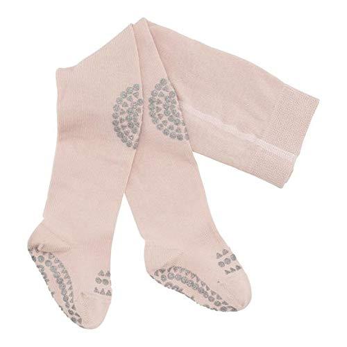 GoBabyGo Original Rutschfeste Baby Krabbel Strumpfhose | ABS Non-Slip Unterstützung Für Aktive Kinder Im Krabbelalter | Baumwollstretch | 6-12M (74-80cm) | Soft Pink Glitter Glitter Slip