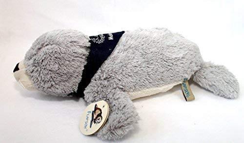 Seehund Robbe FLAPSCH superweiches Plüschtier mit Halstuch MOIN MOIN (37 cm, Grau)
