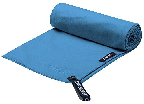 Cressi fast drying, asciugamano sportivo in microfibra unisex-adulto, azzurro, 90 x 180 cm