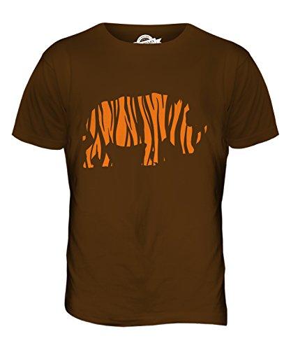 CandyMix Nashorn Mit Tigerstreifen Herren T Shirt Braun