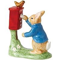 Beatrix Potter-Statuetta di Peter coniglio che imbuca una lettera