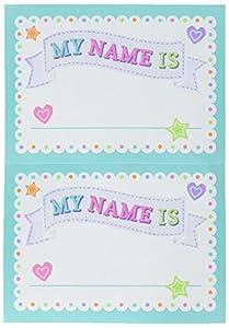 Amscan 380055- Etiquetas para nombres de baby shower