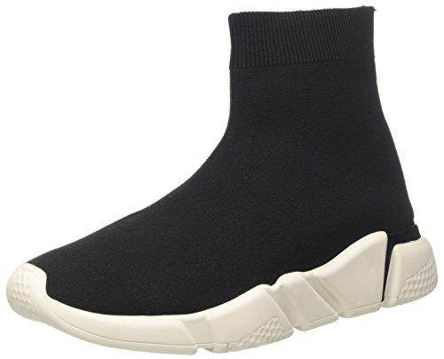 Jeffrey Campbell 6-Redman Weave Sock Sneaker a Collo Alto Donna, Multicolore (Nero Bianco Sole 001) 41 EU