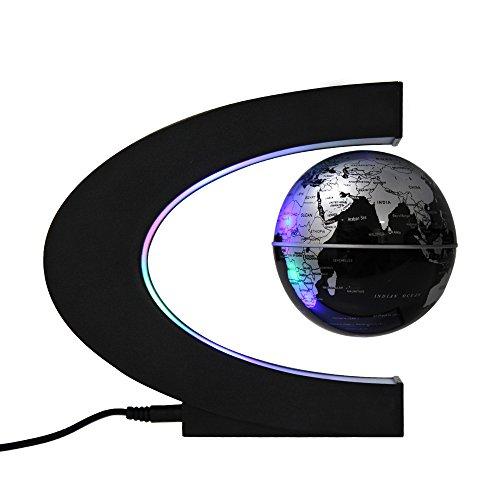 Preisvergleich Produktbild Easy Eagle Globen Licht Magnet Globus Magnetische Kugeln Schwimmende Kugel Business Geschenke Geburtstag Geschenke Silber/Schwarz