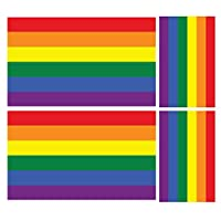 4 X RAINBOW PRIDE FLAG CAR VAN VINYL STICKERS