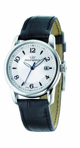 Philip Watch - R8251178501 - Montre Femme - Quartz Analogique - Bracelet Cuir Noir