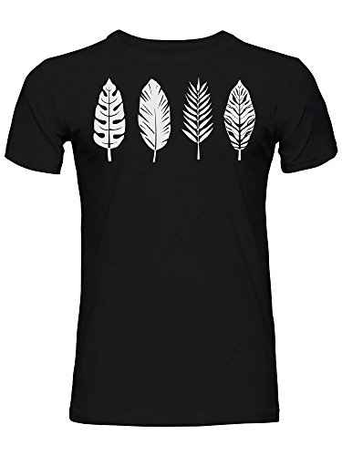 Palm Leaf Bird Feather Graphic Men's T-Shirt Medium