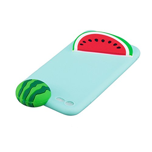 Coque iPhone 7 , Etui iPhone 8 , CaseLover 3D Etui Coque TPU Slim pour Apple iPhone 7 / Apple iPhone 8 (4.7 pouces) Mode Flexible Souple Soft Case Couverture Housse Protection Anti rayures Mince Trans Pastèque