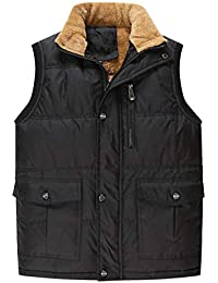20b62ed5e526c Wenchuang Hombres Invierno Sin Mangas Chaqueta Chaleco Tallas Grandes