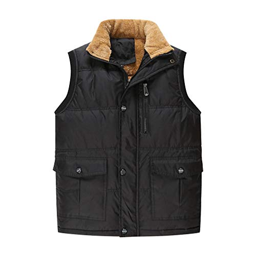 Wenchuang Hombres Invierno Sin Mangas Chaqueta Chaleco
