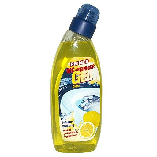 Preisvergleich Produktbild Reinex WC-Reiniger Gel Citro - Schräghalsflasche mit Sicherheitsverschluss - 750 ml - 1 Flasche