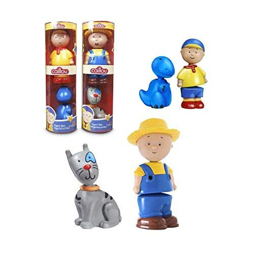 Caillou Tube with 2 Figures